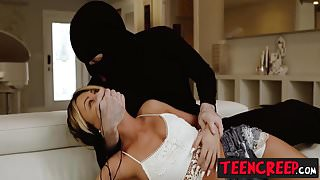 Hot blonde Mia Pearl gets roughly fucked by the creeper dude