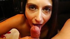 Bj by a mature and expert cum eater