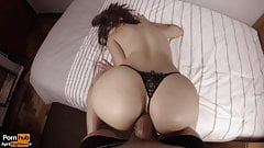 Hot babe enjoys a big dick in her perfect ass.