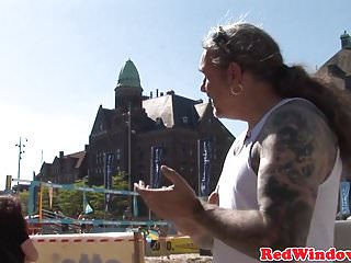 Punk dutch hooker riding tourist cock