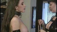Big breasted bondage lesibian submits