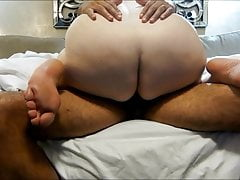 Wife's big butt riding my bbc