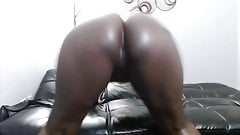 Adorable black chocolate learns all ways to make you cum