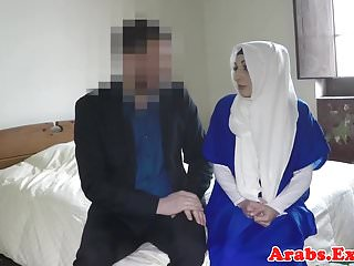 Hijab muslim doggystyled before sucking cock