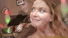 Ginger milf realtor interracial double facial
