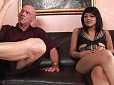 Petite Asina whore gets her holes stretched by huge cock
