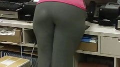 Big booty milf bent over register