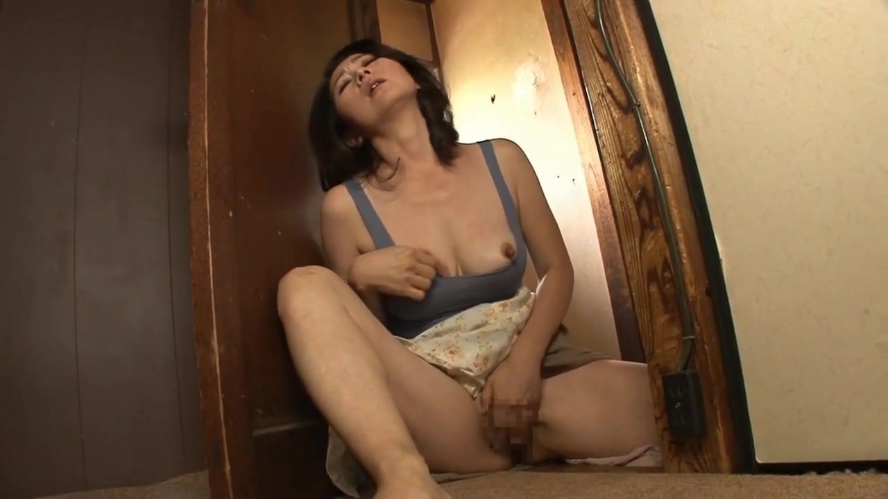 Japanese Mom Masturbates Son