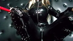 Danni Levy in sexy latex catsuit