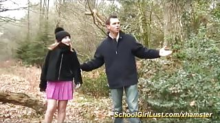 young schoolgirl picked up for rough anal