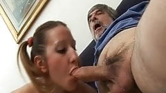 Old not dad spying and fucking his not daughter