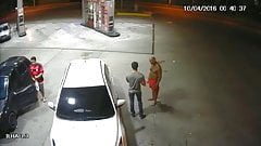 Hot action at the gas station