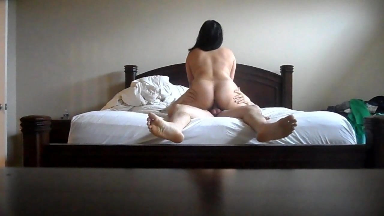 Asian wife riding