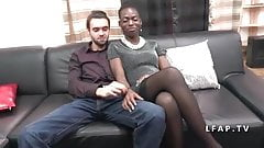 Casting couple amateur avec une belle black
