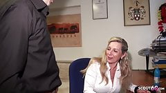 DEEP ANAL FOR GERMAN MATURE JENNY IN STOCKINGS AT WORK
