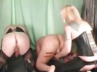 Mistress thoroughly dominates her male slave