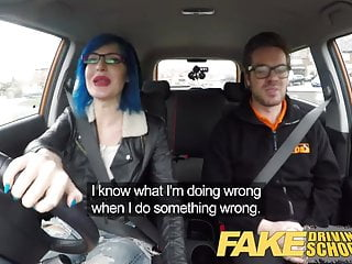 Preview 2 of Fake Driving School Instructor cums over learners pussy