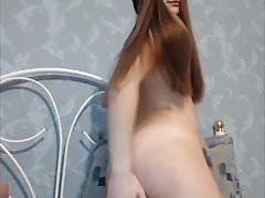 Sexy Teen Brunette Hairjob, Striptease, Hairplay, Hair Brush