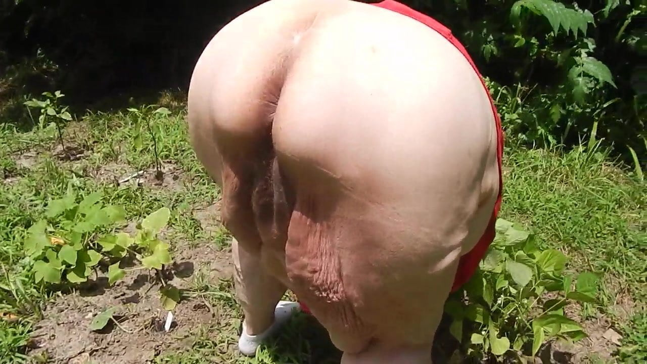 The purpose granny naked bent over