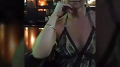 Cougar hotwife films herself with young bar stud