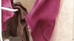 Hidden cam Wife in bathroom