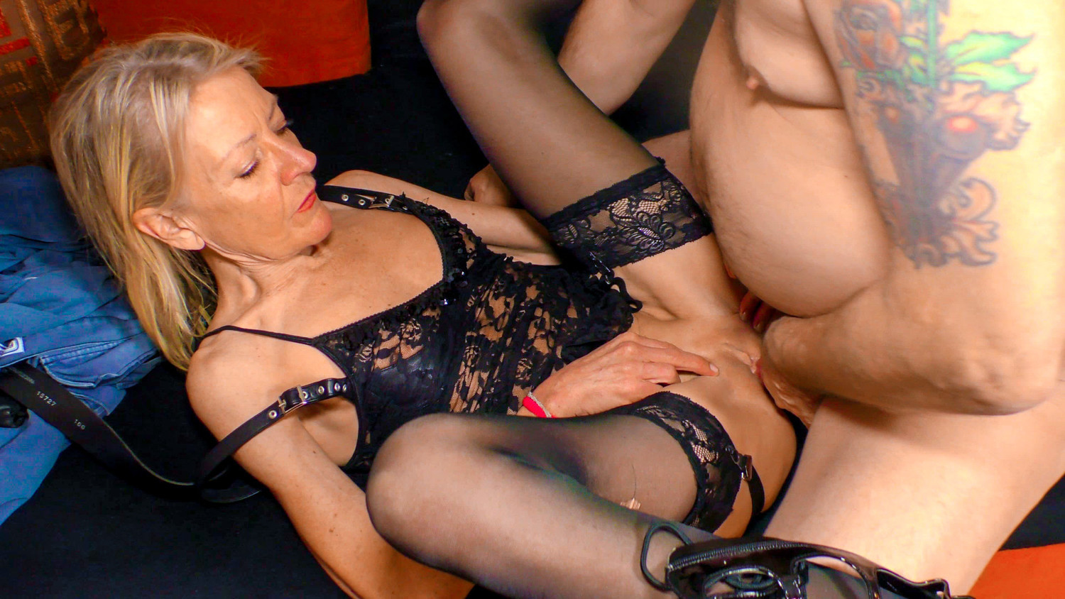 Letsdoeit - German Granny In Lingerie Loves Her Boss-9831