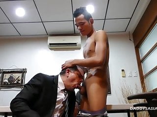 Preview 3 of not daddy Bareback Fucks Asian Boy Joshua