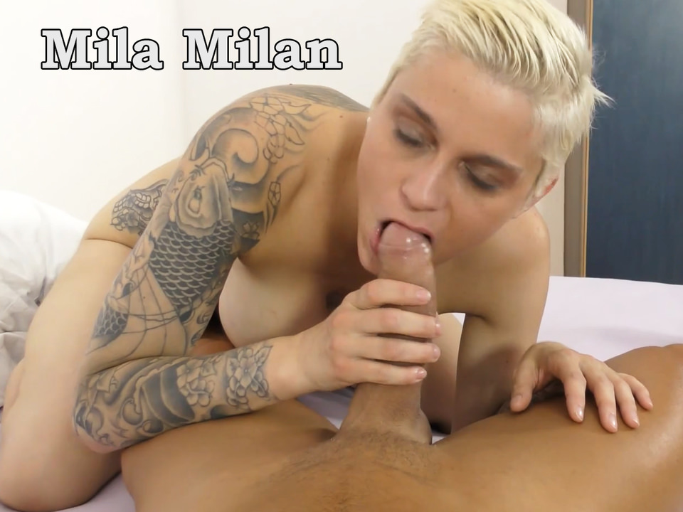 Cockhungy vollbusige MILF Mila Milan