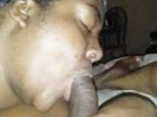 Kinky chubby ebony sucking &bent over