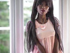 Sexy ebony sex doll, blowjob anal creampie fantasies