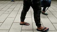 Candid ebony feet slo mo 2