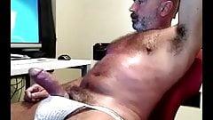 hairy man jerking off
