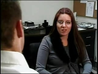 Four Eyed Nerd Casey Gets Fucked At The Office
