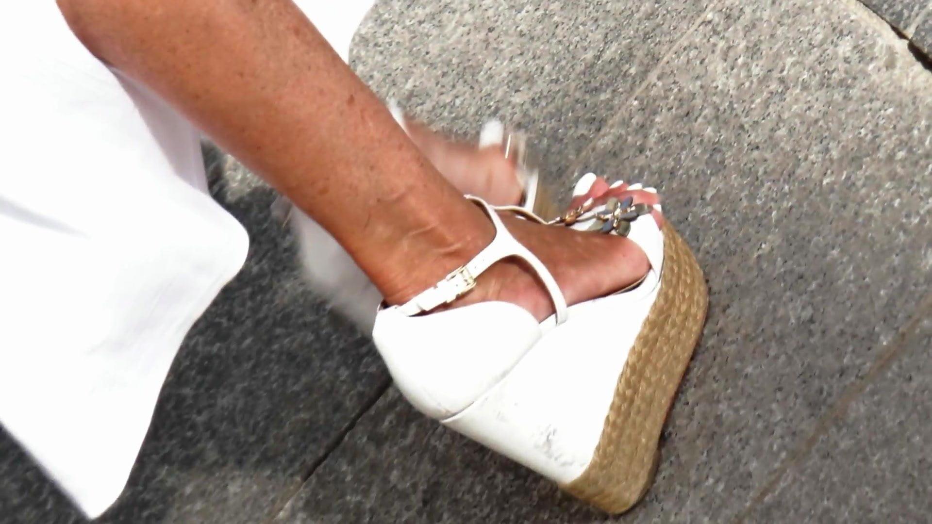 Horny ft in superb wegdes heels (Half 4)