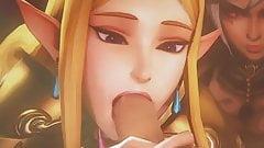 Princess Zelda cosplay sop bakcground vid