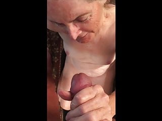 Grandma loves the feel of warm cum