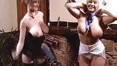 Vintage British big bouncy tits dance-off