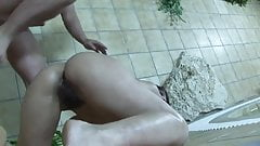 Boy fuck mature mom in sauna
