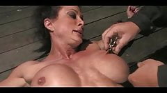 Hot milf digs her pussy
