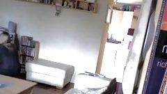 Discrete masturbation cought on cam