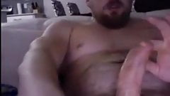 Hot dude with uncut thick cock