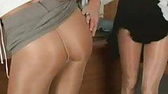 Pantyhose Lesbian Interview
