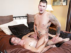 Caleb takes a big sexy dick