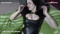 My Dirty Hobby - Young-Devotion fucks in latex top