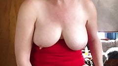 Pissing  in Cup then pour it all over my hot tits