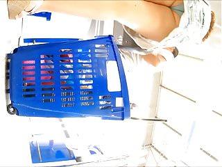 upskirt sous la jupe culotte blue