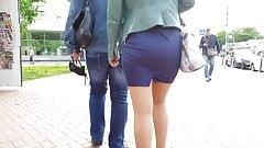 MILF's ass in skirt