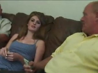 Two old men take advantage of beautiful Faye Reagan