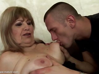Old grannies get young cum deep inside their holes