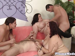 Pussyfucked bbw beauties enjoy big cocks